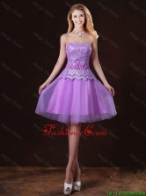 Classical Laced and Appliques Dama Dresses with Strapless BMT058EFOR