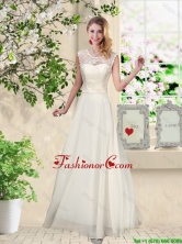 Classical Scoop Appliques Dama Dresses in Champagne  BMT060CFOR