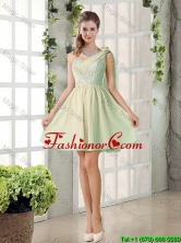 Custom Made A Line One Shoulder Lace Dama Dresses BMT010D-5FOR