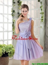 Custom Made A Line One Shoulder Lace and Bowknot Dama Dresses BMT010C-1FOR