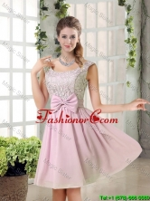 Custom Made A Line Straps Dama Dresses with Bowknot BMT010B-4FOR