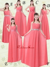 Exquisite Watermelon Dama Dresses with Ruch and Beading BMT008FOR
