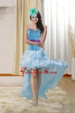 High Low Sweetheart Dama Gown with Ruffles and Beading XFNAO783TZBFOR