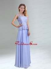 Lavender Belt and Lace Empire 2015 Dama Dress with Bateau BMT029CFOR