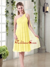 Lovely Inexpensive One Shoulder Dama Dress with Scarf BMT007CFOR