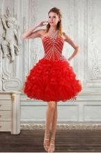 New Style Sweetheart Dama Dresses with Beading and Ruffles  XFNAO092TZBFOR