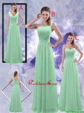 Perfect Zipper up Ruched Dama Dresses in Apple Green BMT047FOR