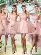 Popular A Line Pink Dama Dresses with Lace and Appliques BMT037FOR