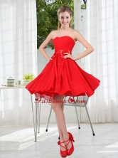 Pretty Ruching Strapless A Line Dama Dresses for 2015 BMT001BFOR
