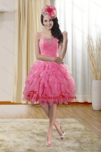 Pretty Sweetheart 2015 Dama Dresses with Ruffles and Beading XFNAO724TZCFOR