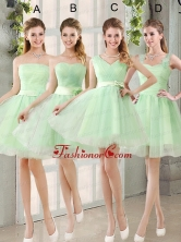 Ruching Organza A Line Mini Length Dama Dress with Lace Up BMT014FOR