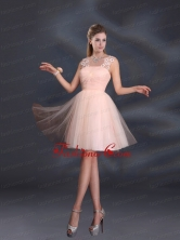 Straps Appliques Dama Dresses in Baby Pink BMT022AFOR