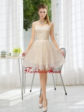 Straps Lace Sleeveless Dama Dress with Mini Length BMT021DFOR