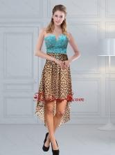 Unique Beaded Leopard Printed 2015 Dama Dresses in Aqua Blue ZYLJ91403TZBFOR