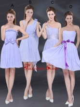 2015 Elegant Chiffon Lace Up Prom Dress in Lavender BMT026FOR