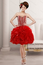 2015 Elegant Sweetheart Prom with Beading and Ruffles XFNAO5781TZCFOR