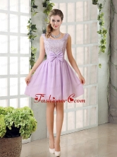 2015 Most Beautiful Chiffon A Line Prom Dress with Bowknot BMT010BFOR
