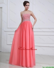 2016 Popular Watermelon Sweetheart Prom Dresses with Beading DBEE514FOR