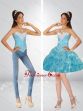 Classical Sweetheart Baby Blue Prom Dresses with Beading and Pick Ups SJQDDT81004FOR