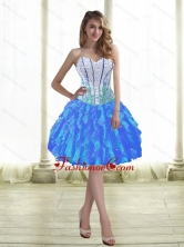 Discount Ball Gown Prom Dresses with Beading and Ruffles for 2015 SJQDDT38003-1FOR