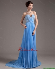 Discount Brush Train Sweetheart Prom Dresses in Baby Blue DBEE523FOR