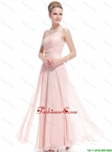 Fashionable Beaded Side Zipper Prom Dresses in Baby Pink DBEE012FOR