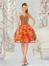 Luxurious Multi-color Prom Dress with Beading and Ruffles for 2015 QDDT002BFOR