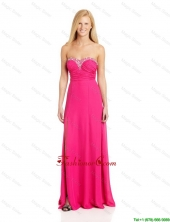 Pretty Empire Sweetheart Prom Dresses with Brush Train in Hot Pink DBEE108FOR