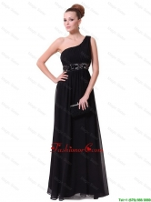 Pretty One Shoulder Sequined Prom Dresses in Black DBEE031FOR