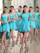 Ruching A Line Chiffon Lace Up Prom Dress for 2015 BMT020FOR