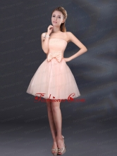 Strapless A Line Hand Made Flowers Prom Dress for 2015 BMT011DFOR