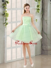 The Most Popular Strapless A Line Prom Dress with Lace Up BMT014AFOR