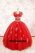 2015 Ball Gown Sweetheart Appliques Quinceanera Dresses FNAOA38AFOR