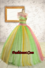 2015 Elegant Sweet 16 Dresses in Multi-color with Beading FNAO828AFOR