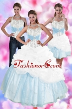 2015 Multi Color Quince Dresses with Pick Ups and Beading XFNAO085TZA1FOR
