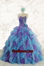 2015 New Style Multi Color Quinceanera Dresses with Beading FNAO453FOR