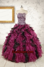 2015 New Style Sweetheart Ruffles Multi-color Quinceanera Dresses FNAO019FOR