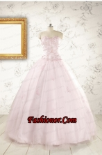 2015 Pretty Appliques Light Pink Quinceanera Dresses FNAO151FOR