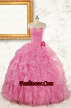 2015 Pretty Sweetheart Beading Baby Pink Quinceanera Dresses FNAO142FOR