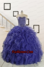 2015 Pretty Sweetheart Quinceanera Dresses with Sequins and Ruffles FNAO7751FOR