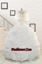 2015 Puffy Strapless New Style Beading Quinceanera Dresses FNAO186AFOR