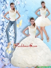 2015 Summer Pretty High Neck and Beaded Quinceanera Dresses with Pick Ups SJQDDT42001FOR