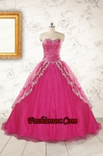2015 Sweetheart Sweep Train Trendy Quinceanera Dresses with Sequins and Appliques FNAO350FOR