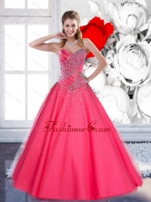 2015 The Most Popular Sweetheart Quinceanera Gown with Beading QDDTC20002FOR