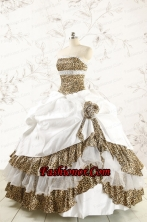2015 Unique Quinceanera Dresses with Strapless Leopard FNAO437FOR