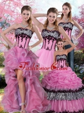 2015 Zebra Printed Multi Color Quinceanera Dress with Pick Ups and Appliques QDZY028TZA2FOR