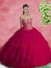 2016 Pretty Quinceanera Dresses with Beading and Ruffles SJQDDT95002-1FOR