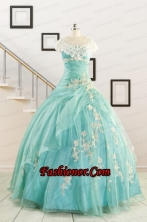 Ball Gown Sweetheart Cheap Quinceanera Dresses with Appliques FNAO685AFOR