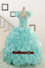 Beautiful Quinceanera Dresses with Appliques and Ruffles for 2015 FNAO5751AFOR