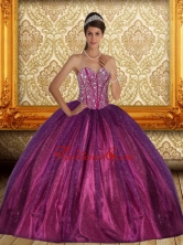 Brand New Beading Sweetheart Ball Gown Sweet 15 Dress for 2015 QDDTA32002FOR